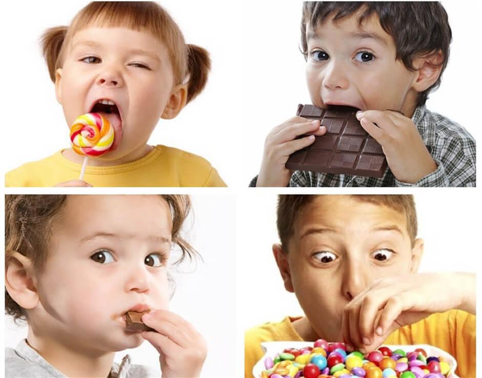 Trẻ nhỏ thích ăn đồ ngọt và đây chính là nguyên nhân chính gây sâu răng